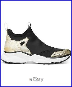 Michael Kors Women's Willow Scuba Leather Slip-On Trainer Sneakers Shoes Gold
