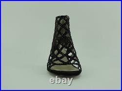 Michael Kors Women's Yvonne Booties Black Rhinestone-Embellished Caged Shoe 9 M