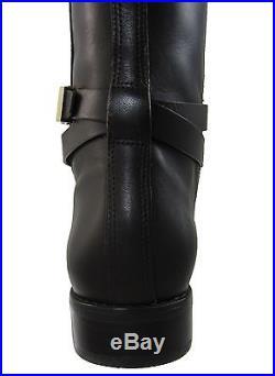Michael Kors Womens Arley Riding Tall Zipper Pull On Buckle Knee High Boots