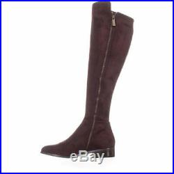 Michael Kors Womens Bromley Flat Boot Leather Closed Toe Over Knee Riding Boots