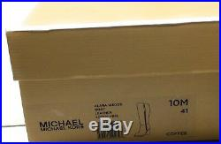 Michael Kors Womens Clara Knee High Wedge Boot Coffee Brown Leather Size 10 M