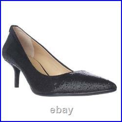 Michael Kors Womens Flex Kitten Glitter Pump Dress Shoes Black 19