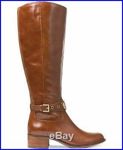 Michael Kors Womens Heather Boots Leather Closed Toe, Dark Caramel, Size 6.5 0j6