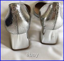 Michael Kors Womens Heels Shoes Size 6.5 Uk New Silver Original