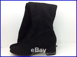 Michael Kors Womens Jamie Suede Almond Toe Over Knee Fashion, Black, Size 8.5 hF