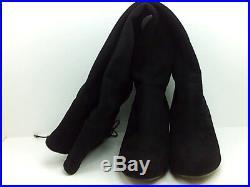 Michael Kors Womens Jamie Suede Almond Toe Over Knee Fashion, Black, Size 8.5 sf
