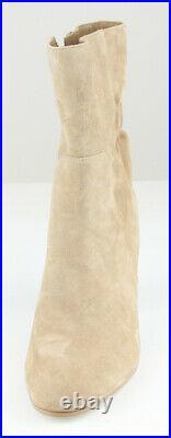 Michael Kors Womens Khaki Suede Leather Dolores Bootie Heel Shoes Ret $190 New