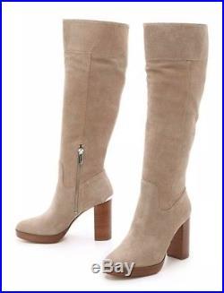 54f8a6a6c3dec Michael Kors Womens Regina Platform Suede Dark Khaki Boots Size US 9 ...