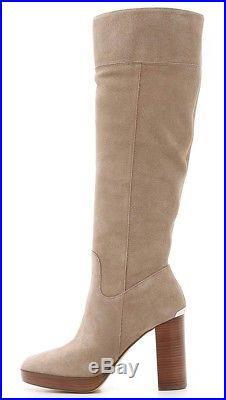 26b63ad6529 Michael Kors Womens Regina Platform Suede Dark Khaki Boots Size US 9