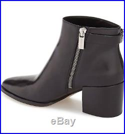 Michael Kors Womens Saylor Fashion Ankle Dress Boots Black Leather 8 NEW IN BOX