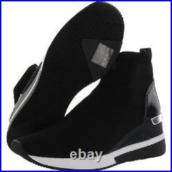 Michael Kors Womens Skyler Black Sock Sneakers Shoes 9 Medium (B, M) BHFO 2032