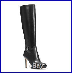 Michael Kors Woods Leather Boots Black Women Sz 5.5 M 2414