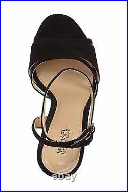 Michael Kors Yoonie Black Suede Platform Sandal Shoes WOMEN'S SIZE 8.5