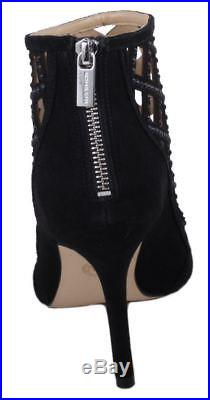 Michael Kors Yvonne Womens Black Suede Open Toe High Heel Booties size 11