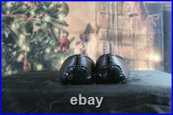 Michael Kors ballet Flat shoe MK LOGO Charm Black SIZE 6 NEW
