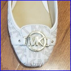 Michael Kors ballet Flat shoe MK LOGO Charm Black Vanilla Chocolate Fulton Moc