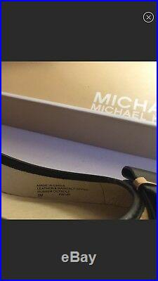 Michael Kors leopard pump block heels work shoes new in the box size 8
