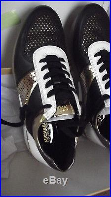 Michael Kors trainers BNIB RRP £160- size 7 Allie trainer, black, gold, stars