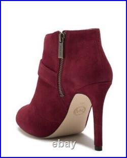 Michael Michael Kors Agnes Women Shoes Open Toe Bootie Maroon Suade 8.5 NWB