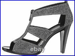 Michael Michael Kors Berkley T Strap Anthracite Sandals Shoes Size 7.5