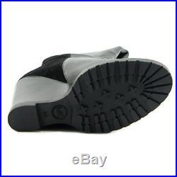 Michael Michael Kors Clara Wedge Boot Round Toe Leather Knee High Boot