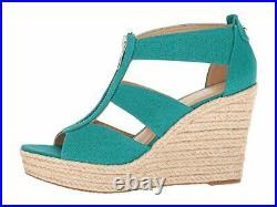 Michael Michael Kors Damita Wedge Tile Blue Shoes 9.5, Tile Blue, Size 8.5