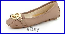 Michael Michael Kors Fulton Dark Khaki Leather Flat Shoes