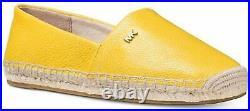 Michael Michael Kors Kendrick Leather Slip On Espadrilles Shoes Size 9