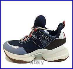 Michael Michael Kors Olympia Women's Shoes Fashion Sneakers, Pale blue, Size 10