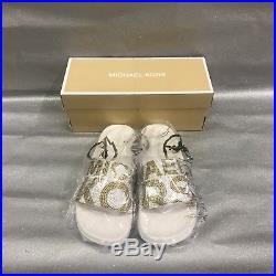 Michael Michael Kors Studded Logo Gilmore Pool Slides Sandals Women's Size (9)