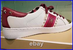 Michael Michael Kors Women's Frankie Stripe Leather Sneakers Shoes Size 7.5