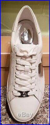 Michael Michael Kors Women's Keaton Heart Leather Sneakers Shoes Size 8.5 Wht