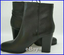 Michael Michael Kors Women's Margaret Black Leather Bootie, Black, Size 7.5