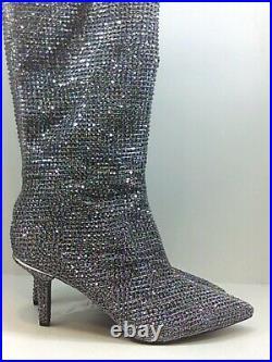 Michael Michael Kors Women's Shoes Boots, Silver, Size 9.5