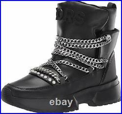 Michael Michael Kors Women's Shoes Cassia Bootie Leather Closed, Black, Size 8.5