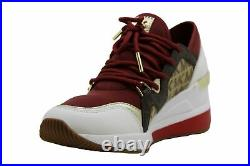 Michael Michael Kors Women's Shoes Liv Trainer Low, Brandy Multi/ Logo, Size 7.5