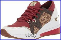 Michael Michael Kors Women's Shoes Liv trainer Low Top, Brandy Multi, Size 11.0