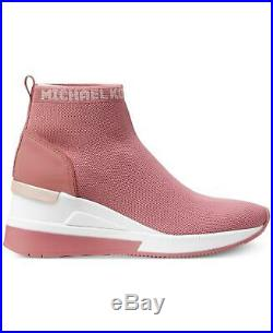 Michael Michael Kors Womens Skyler Hight Top Pull On Fashion, Rose, Size 9.5 JLk