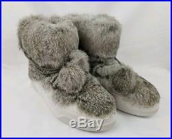 NEW! MICHAEL KORS Nala Ankle Boot Rabbit Fur Optic White Winter Sz 9 $250