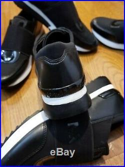 NEW Michael KORS Women's BLACK Trainer Canvas Fashion Sneakers Shoes MK SG19D