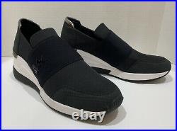 NEW Michael Kors Felix Trainer Women's Sneakers Casual Shoes Wedge Black 9 1/2
