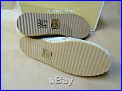NEW Michael Kors Hastings Slip On Shoe Hemp Canvas Fabric Size 8 Gold MK Logo