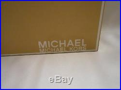 NEW! NIB! MICHAEL KORS Luggage Brown Suede Leather SALEM Ankle Bootie Boots $198