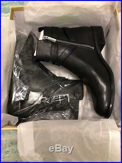 NIB $165 MICHAEL KORS Preston Black Leather Ankle Boot Sz 9M