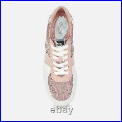 NIB MICHAEL KORS Allie Sneakers Running Style Trainers Shoes SMOKEY ROSE 8 M
