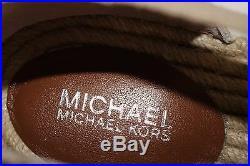 NIB MICHAEL KORS Size 10 Women's Khaki Stripe Canvas DANA ESPADRILLE Slip On
