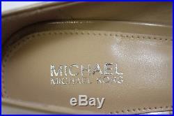 NIB MICHAEL KORS Size 6 Womens Nude 100% Patent Leather MK-FLEX MID Classic Pump