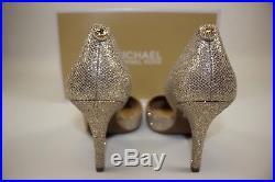 NIB MICHAEL KORS Size 7.5 Women's Silver Sand Glitter NATHALIE Flex High Pump
