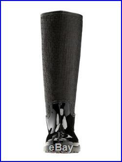 NIB Michael Kors Blakely Embossed Leather Tall Rain Boots