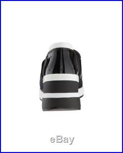 NIB Michael Kors Felix Trainer Scuba Mesh Sneakers Logo Black Womens Sz 7-8